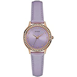 "Ysora - ""Chelsea"" Purple and Rose Gold Dial with Crystals Ladies Watch Guess w0648l14 Crystal 3.2 cm"