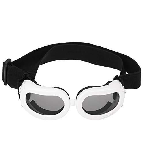 YuLinStyle New Pet Brille Kleine Hund Sonnenbrille Anti-Fog Winddichte Brille Brille Wasserdicht Ski Sonnenschutz UV-Brille Mit Verstellbarer Schlaufe Hund oder Katze Haustier Werkzeug