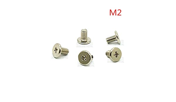 Screws 100pcs//lot Wafer Thin Head Phillips Screw Laptop Screws M21.5//2//2.5//3//3.5//4//5//6//7 Steel Nickel Plated CM2