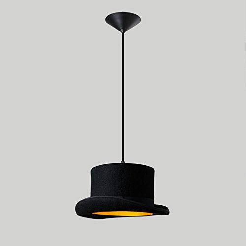 Magasin de vêtements Lumières Lustre Creative Personnalité Restaurant Café Bar Table Gentleman Hat Rétro Lampes Rollsnownow (taille : B)
