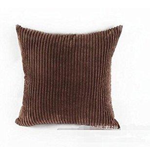 Josep. H Home Canapé lit Décoration Taie d'oreiller Housses de coussin, marron, 45*45cm