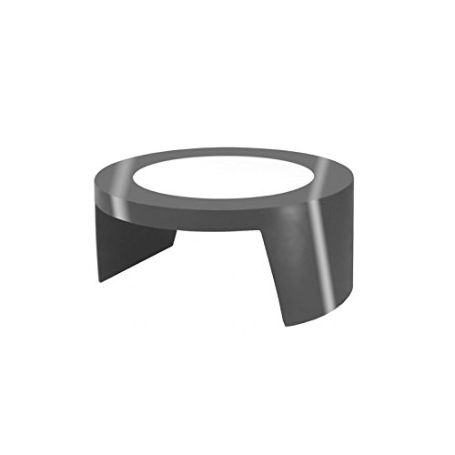 Round table basse avec plateau en verre Tao SLide - Iron Grey