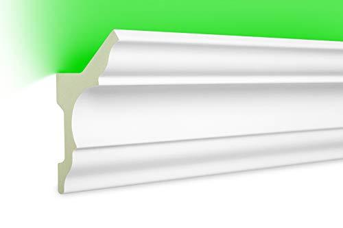 2 Meter | LED Profil | indirekte Beleuchtung | Stuck | lichtundurchlässig | stoßfest | Leiste | wetterbeständig | 80x48mm | LED-4
