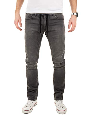 WOTEGA Uomo Pantaloni di Tuta Jogg Jeans -Look Noah Slim Fit Scuro, Grigio (Magnet 193901), W29/L34