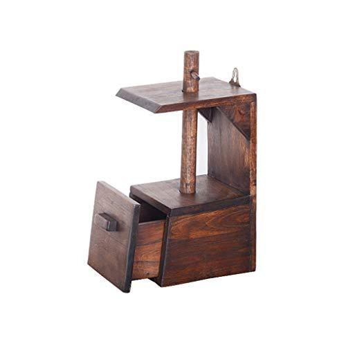 Aufbewahrung von Papiertüchern Tissue Box Home Chinesisch Retro Retro Multifunktions-Papierbox Badezimmer Massivholz Papierhandtuchhalter Dekoratives Tablett (Color : Brown) -