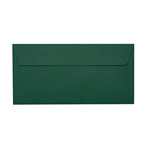 100 Briefumschläge Din Lang 110x220 mm mit Haftstreifen, 120g, Farbe: 13 Dunkelgrün
