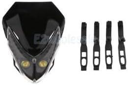 SLB Works Brand New Motorcycle 12V 10W White LED Light Head Lamp Black for Scooter Bike ATV