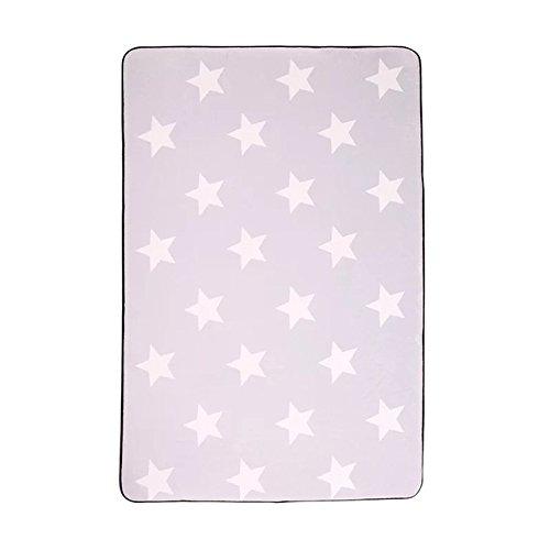 GRENSS Koreanische Design Stern gedruckt Teppich Vorleger Badematte Anti-rutsch Boden weich Baby Teppiche Spielen für Wohnzimmer Innen Schlafzimmer Teppich, ZZM 6000,400 x 600 mm