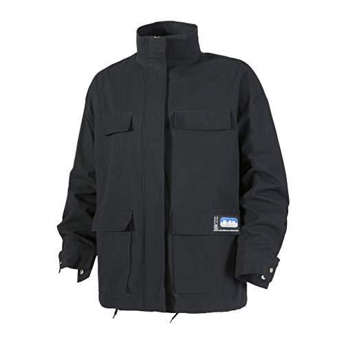 Lässige Einfarbige Herren Jacke Männer Herbst Lässige Mode Reine Farbe Reißverschluss Plus Size Jacken Mantel (Blau Lamm Kostüm)