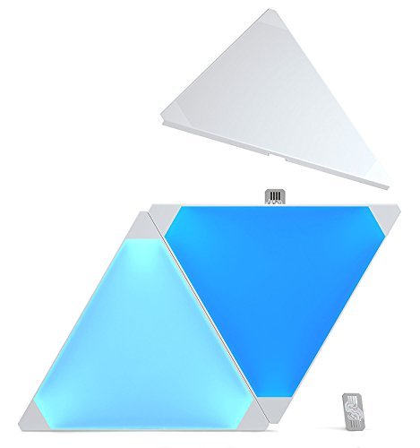 Nanoleaf Aurora Expansion Kit 3 Pannelli Led RGBW, 16.7 Milioni di Colori, 2 W
