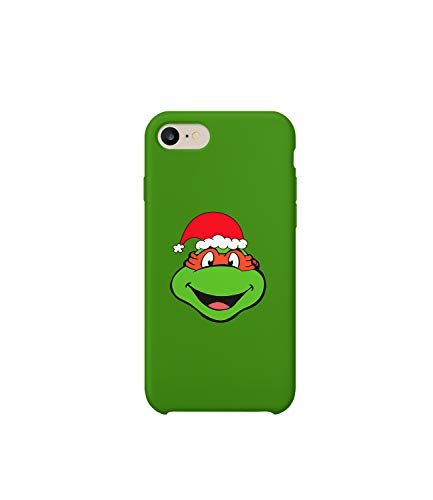 GlamourLab Turtles Mutant Ninja Michelangelo Christmas Santa Claus_A1175 Handyhulle Handyhülle Schutz Hülle Kompatibel mit Protective Case Cover for iPhone 6 / iPhone 6s Gift Christmas