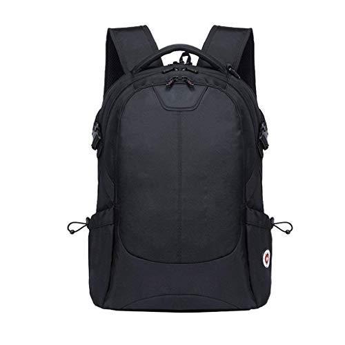 Laptop-Rucksack for 15-Zoll-Laptop, Casual Daypack for Reisen/Business/College/Männer, Schwarz