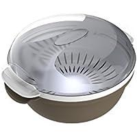 Bama Cooky Contenitore per la Cottura nel Microonde, 1.8 Litri, Plastica, Tortora