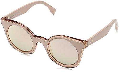 Fendi ff 0196/s 0j jq2, occhiali da sole donna, rosa (pink/grey rosegd sp), 48