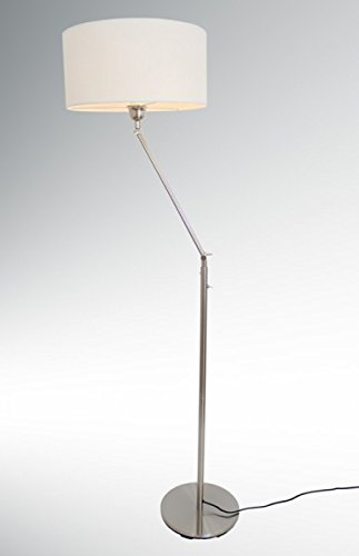 Design Stehleuchte mit weißem Lampenschirm, 164 cm, Kaja FL, 10409