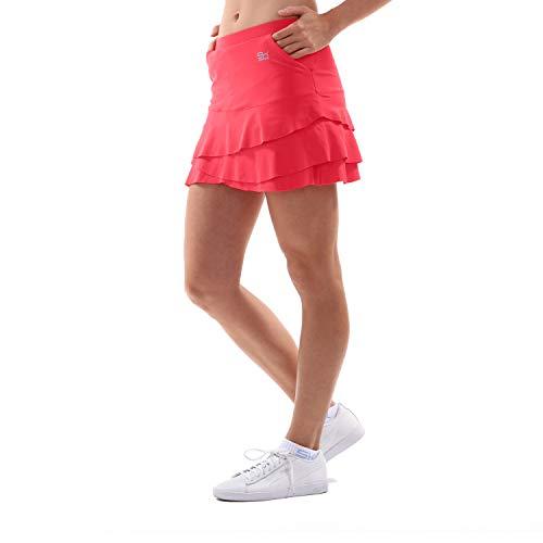 Sportkind Mädchen & Damen Tennis/Hockey/Golf Tulip Rock mit Taschen & Innenhose, pfirsich, Gr. S