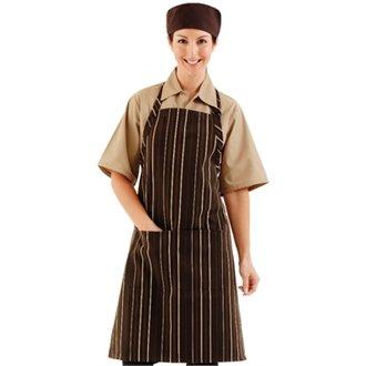 Chef Works A973verstellbar Hals Lätzchen Schürze, Polycotton, Choc und Creme (Creme Schürze)