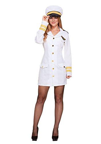 Damen Fancy Kleid Navy Girl Kostüm für -