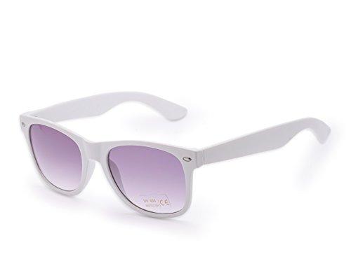 Damen Herren Lesebrille Sonnenbrille +1.5 +2.0 +3.0 +4.0 Sun Readers Perfekt für den Urlaub Retro Vintage Brille MFAZ Morefaz Ltd (+4.00, White)