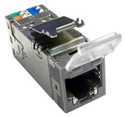 2153365-4 | AMP-Twist SLX, 6AS W/DC,GY 4 Conductor Modular Jack