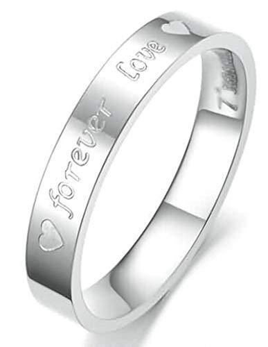 Beydodo Edelstahl Ring Damen Forever Love Silber Freundschaftsring Ring Gr.57 (18.1)