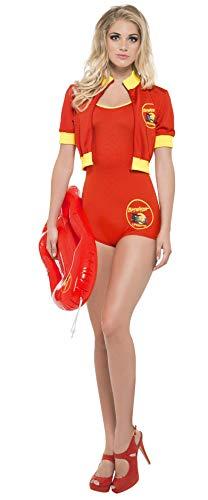 Kostüm Paare Für Berühmte - Smiffys, Damen Baywatch Rettungsschwimmerin Kostüm, Bodysuit, Jacke und Schwimmbrett, Größe: S, 33321