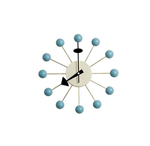Reloj de pared nórdico caramelo creativo Reloj de pared Reloj de pared minimalista moderno de madera maciza -Wall clock ( Color : C )