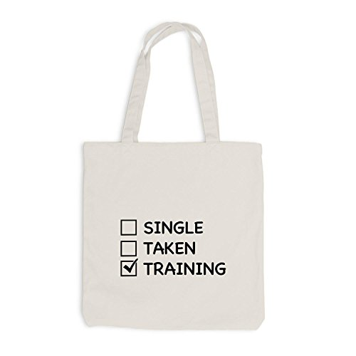 Jutebeutel - Single Taken Training Checkbox - Gym Train Fitness Sport Beige