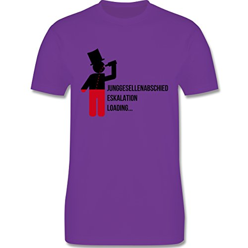 JGA Junggesellenabschied - Eskalation Loading Bräutigam - Herren Premium T-Shirt Lila