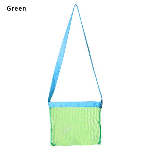 lakamier Fashion Traveling Hiking Outdoor Beach Tote Pouch Collection Tool Mesh Bag Kids Toys Storage(+Green) -