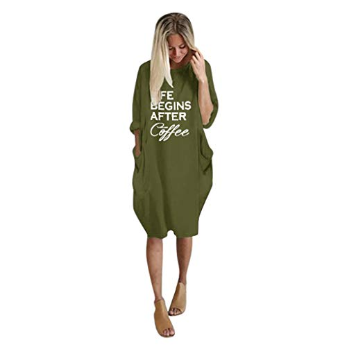 Mypace Elegant Sexy Bodycon Casual Herbst Dresses für Damen-Überbrücker-Damen übergroßes Baggy Loses langärmliges Taschen-Pullover-Minikleid -