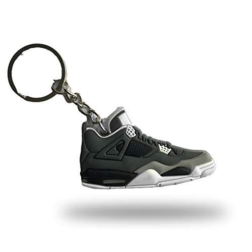 ProProCo Sneaker Schlüsselanhänger Air Jordn 4 IV Schuh Schlüsselanhänger Schwarz Gelb Schuh Fashion für Sneakerheads,hypebeasts und alle Keyholder Nik (Schwarz)