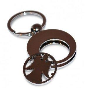 Schlüsselanhänger Schutzengel silber Engel Anhänger Keychain, Schlüsselanhänger mit Einkaufswagenchip