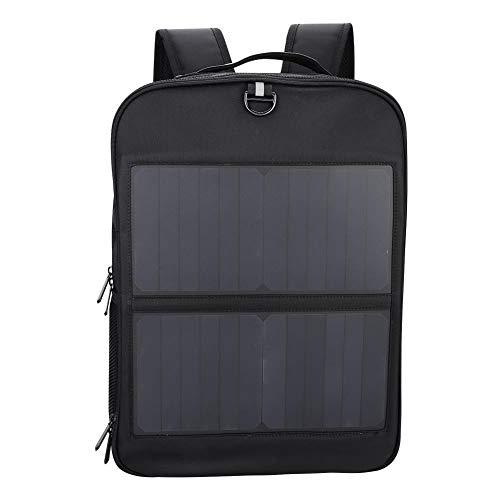 14 Watt Solarrucksack Solar Laptop Tablet Rucksack USB Ladeanschluss Business Bag für iPad Smartphone Camping Wandern Reisen Schule Arbeit (Batteriebetriebene Mobile)