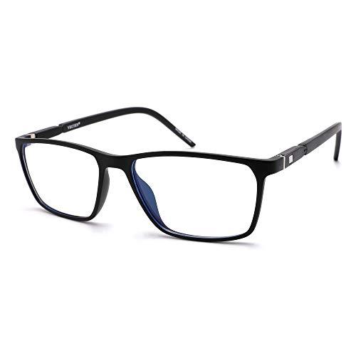 VECIEN Blue Light Blocking-Computerbrille TR90 Stabiler, mattierter Rahmen für ein glattes Gefühl Anti-Augenanstrengung/Kopfschmerz Erhalten Sie geistige Befriedigung für besseren Schlaf (Amber)