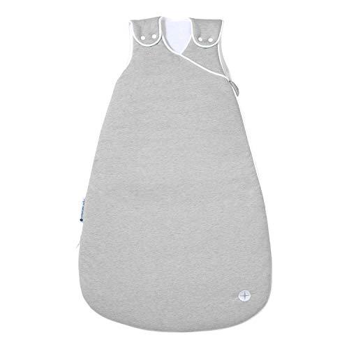 Neugeborene Schlafsack 60cm von nordic coast | Grau 0-3 Monate | Ganzjahresschlafsack für 18-21° Raumtemperatur | Auch toller Babyschlafsack Sommer