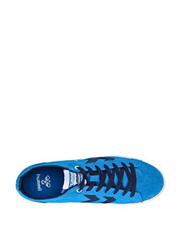 Hummel Deuce Court Summer, Baskets Basses Mixte Adulte Bleu roi