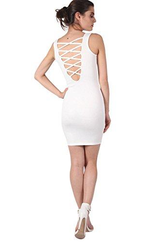 PILOT® Criss Cross retour robe moulante blanc ivoire