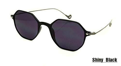 LKVNHP Italien Designer Kleines Rechteck Frauen Sonnenbrillen Männliche Lünette De Soleil Tr90 Rahmen Beschichtung Objektiv SonnenglasUv400 SBlack Runde Sunglas