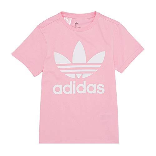 adidas Kinder Trefoil T-Shirt, Light Pink/White, 152 -