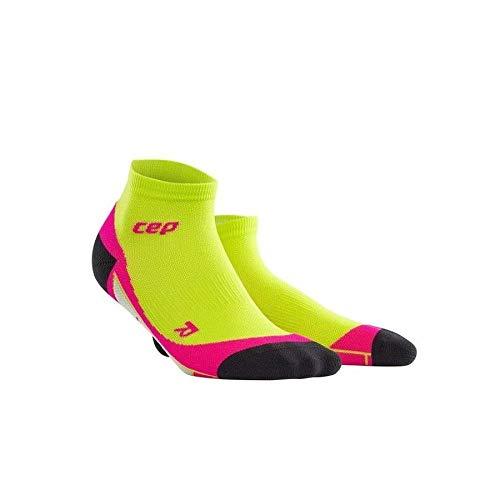 Paar Low Cut Sock (CEP Damen Low Cut Women Socken, Lime/Pink, Gr. 34-37 (Herstellergröße:II))