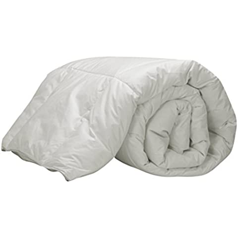 Pikolin Home Natural - Relleno nórdico de plumón de oca 92%, 100% algodón, 250 gr/m², 220 x 200 cm, cama 135