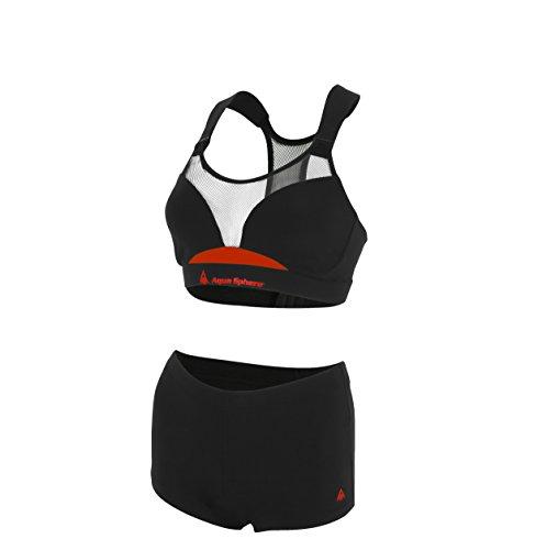 Aqua Sphere Damen Badeanzug schwarz - schwarz/red