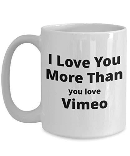 Divertente tazza da caffè per Vimeo Lovers. Grande dono unico di San Valentino per lui o lei.