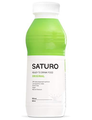 Trinknahrung Saturo Original, 500 kcal, Astronautennahrung mit Hochwertigem Protein, Mahlzeitenersatz, Bekannt aus dem TV, 12 x 500 ml