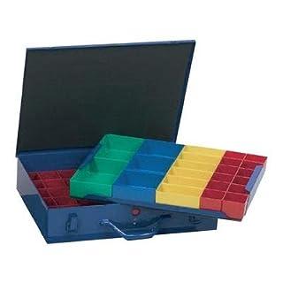 Alutec Sortimentskasten Kleinteilekoffer Metall Einsatz 59 Kunststofffächer