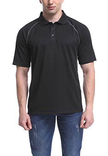 MOHEEN Herren Poloshirt/Funktionsshirt in Übergrößen S bis 6XL - für Sport Freizeit und Arbeit, MEHRWEG (Schwarz, L) -