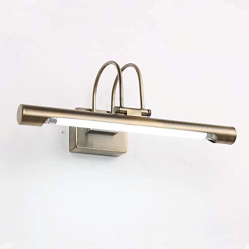 OSALADI LED Spiegel Licht Badezimmer Kabinett Beleuchtung Vanity Lampe 51 cm Retro Bad Wandleuchte 12 Watt (Bronze, Weißes Licht)
