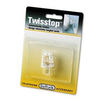 Softalk Twisstop Rotating Phone Cord Detangler, Clear by Softalk Cord Detangler
