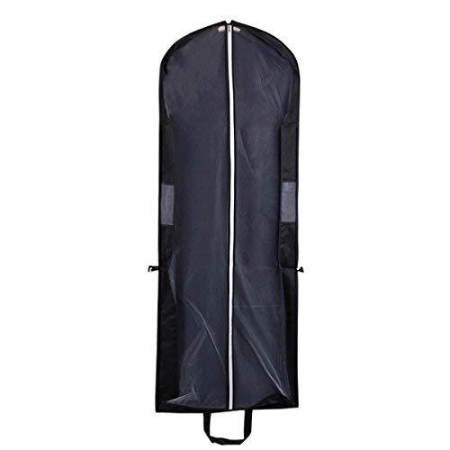 SStaste Kleidersack/Kleidersack, tragbar, Faltbar, Vliesstoff, staubdicht, Schwarz
